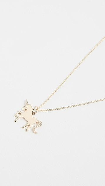 Sydney Evan Unicorn Charm Necklace