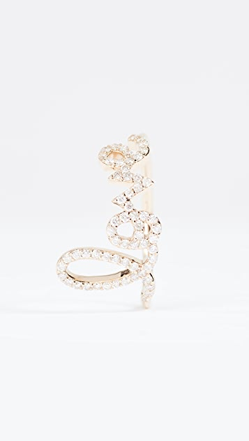 Sydney Evan Large Love Script Ring