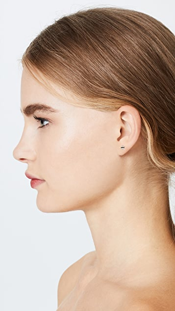 Sydney Evan Small Pave Screw Stud Earrings