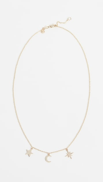 Sydney Evan Tiny Pure Celestial Fringe Necklace BHJTGLWD6R