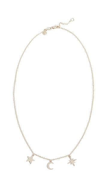 Sydney Evan Tiny Pure Celestial Fringe Necklace