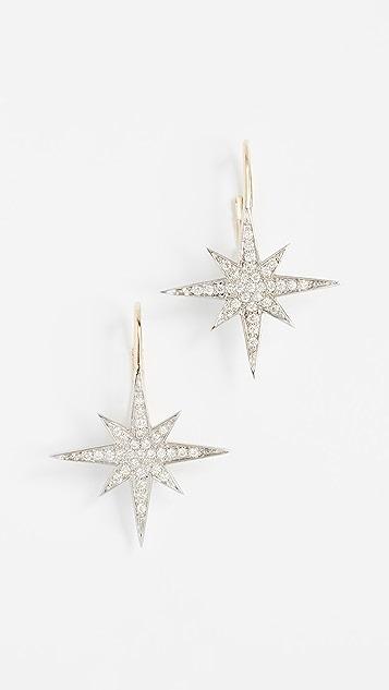 Sydney Evan 14k Gold Medium Diamond Starburst Earrings