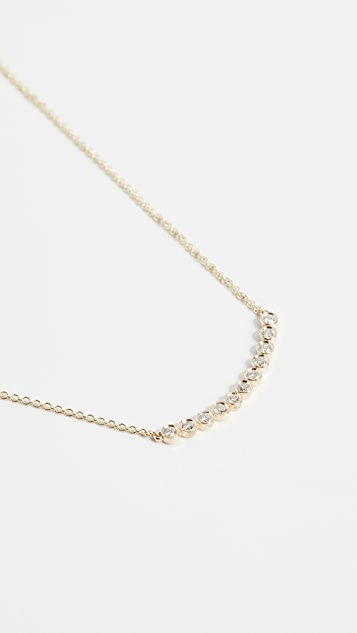 Sydney Evan 11 Diamonds Bezel Necklace