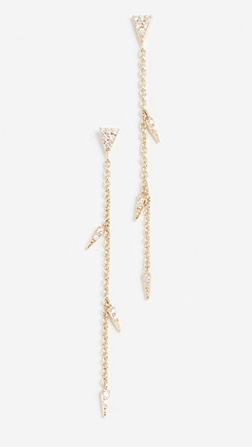Sydney Evan Medium Fringe Drop Earrings