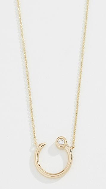 Sydney Evan 14k Small Nail Necklace