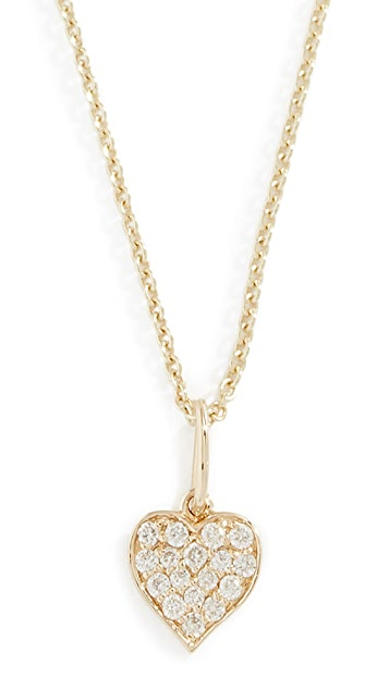 Sydney Evan 14k Playing Card Heart Charm Necklace