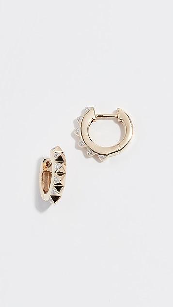 Sydney Evan 14k Mini Pyramid Hoop Earrings
