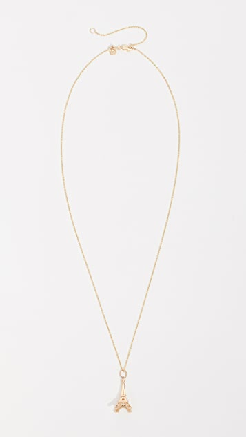 Sydney Evan 14k Gold Eiffel Tower Necklace