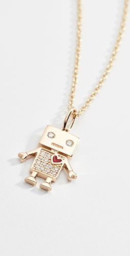 Sydney Evan - 14k Gold Love Robot Necklace