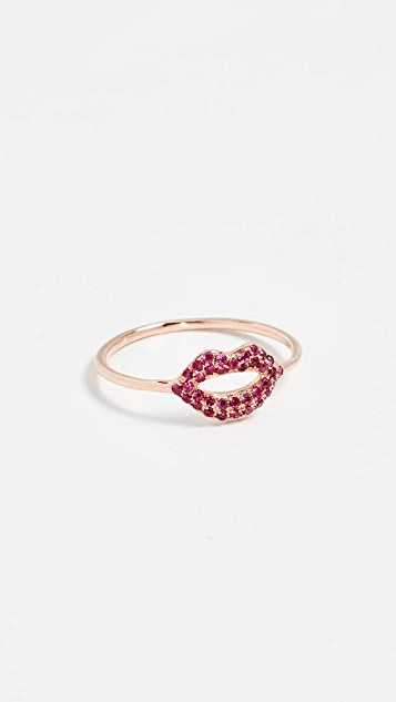 Sydney Evan 14k Rose Gold Lips Ring