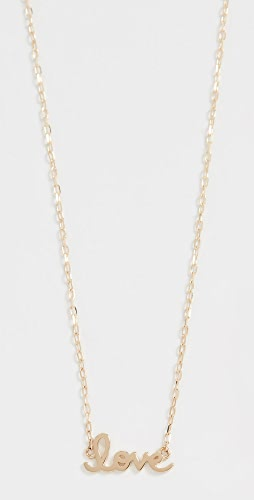 Sydney Evan - 14k Gold Tiny Script Love Necklace