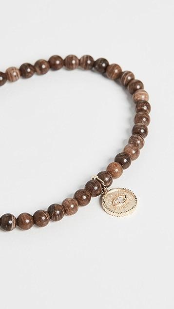 Sydney Evan 14k Small Marquis Eye Coin Bracelet