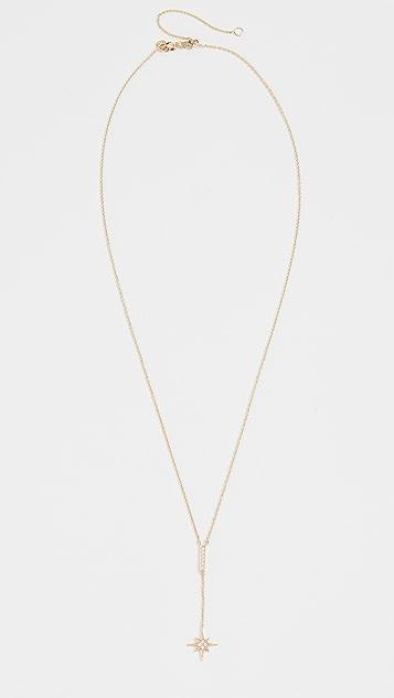 Sydney Evan 密镶条扣和旭日形 Y 项链