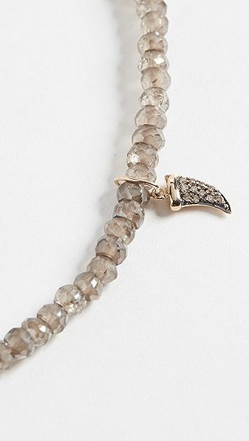 Sydney Evan Миниатюрный браслет с элементом в виде рога с паве