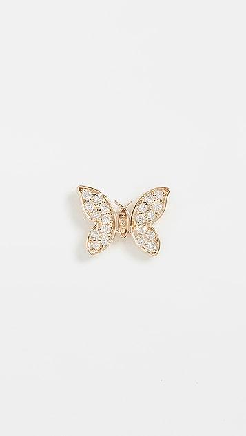 Sydney Evan 14k Single Tiny Butterfly Stud