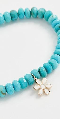 Sydney Evan - Enamel Flower Charm Bracelet