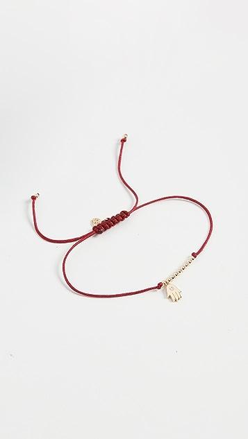 Sydney Evan Single Stone Hamsa Cord Bracelet