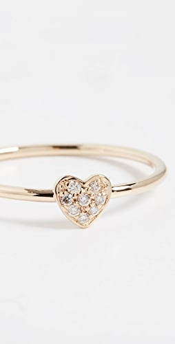 Sydney Evan - Baby Heart Ring with Rubies