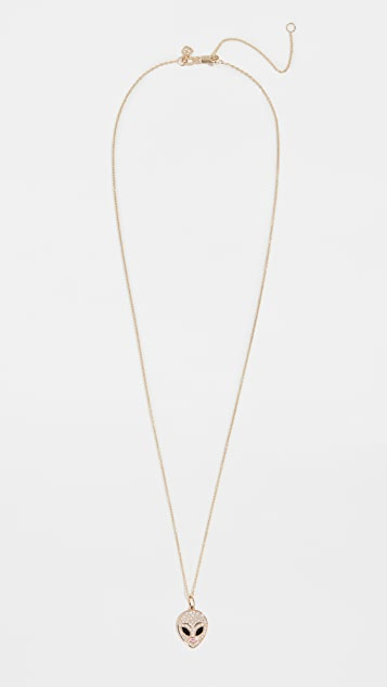 Sydney Evan Alien Charm Necklace