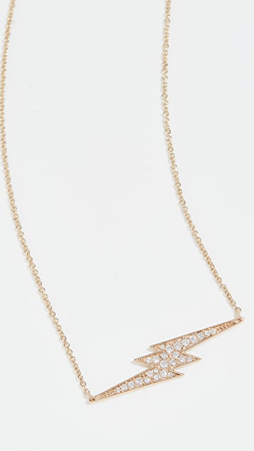 Sydney Evan Lightning Bolt Necklace