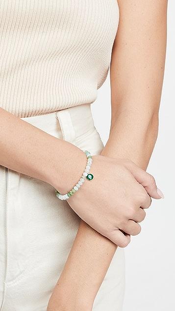 Sydney Evan Tiny Enamel Hamsa Medallion Bracelet
