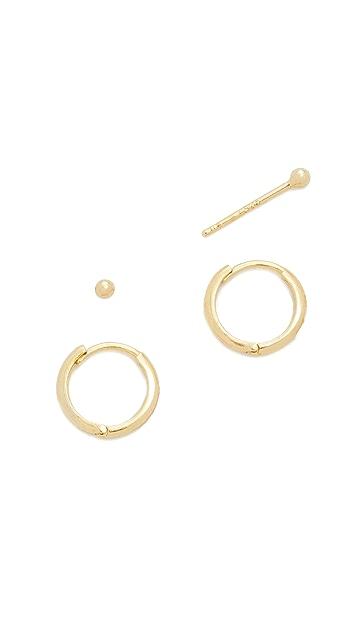 Tai Ball & Hoop Stud Earring Set