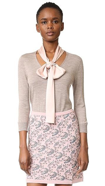 Tak. Ori Long Sleeve Tie Neck Sweater