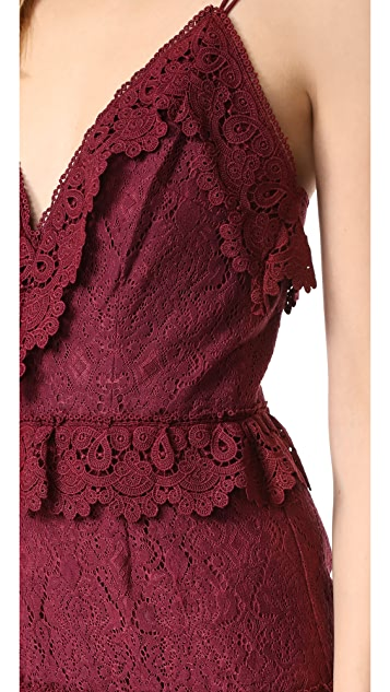 La Maison Talulah Shadow Dance Crossover Mini Dress
