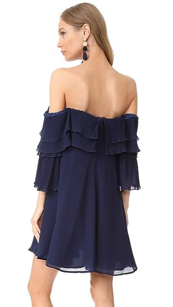 La Maison Talulah Long Letter Off Shoulder Dress