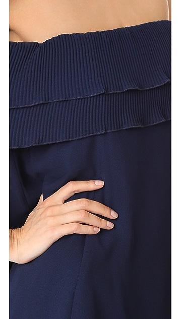Talulah Long Letter Off Shoulder Dress