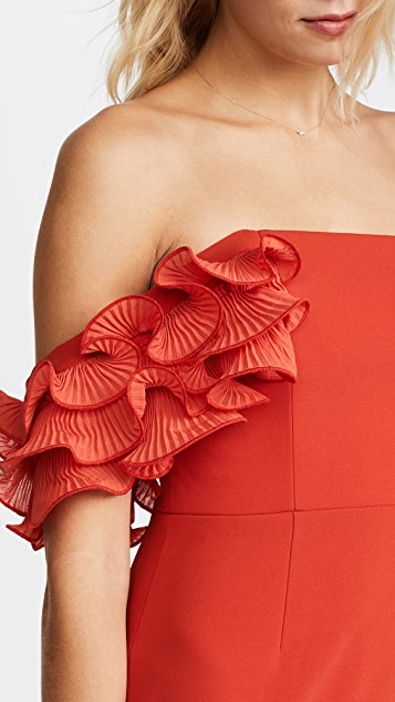 La Maison Talulah Rosa Ruffle Midi Dress