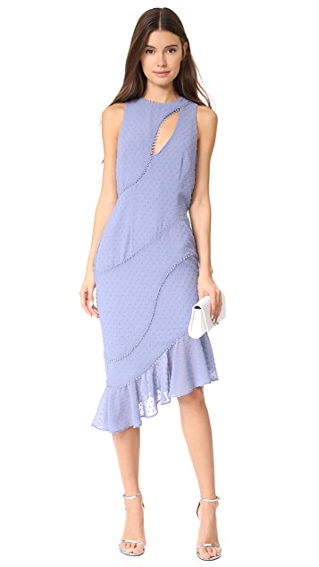 La Maison Talulah Sweet Allure Asymmetrical Midi Dress