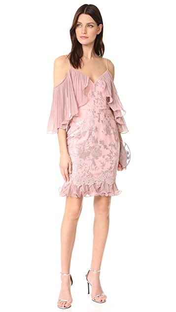 Talulah Valencia Rose Off Shoulder Mini Dress