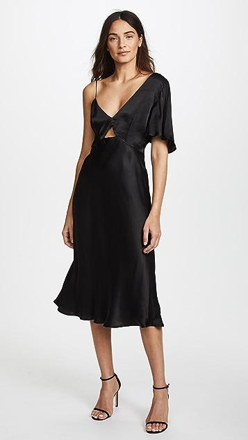 La Maison Talulah Blossoming Asymmetrical Midi Dress