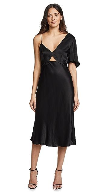 Talulah Blossoming Asymmetrical Midi Dress