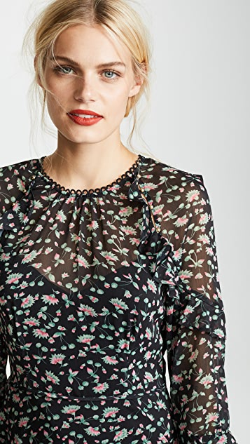 La Maison Talulah Unwavering Glamour Long Sleeve Mini Dress