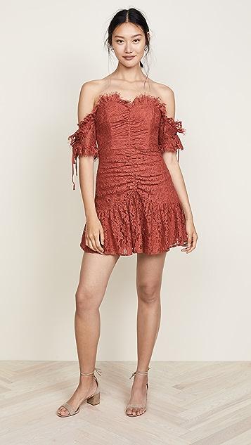 La Maison Talulah Provoke Off Shoulder Mini Dress