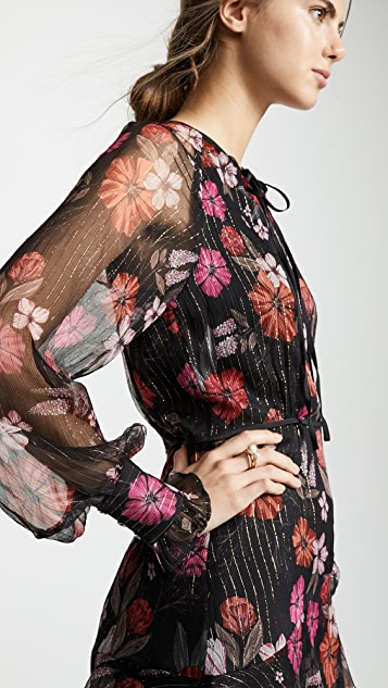 La Maison Talulah Wild Bloom Long Sleeve Mini Dress