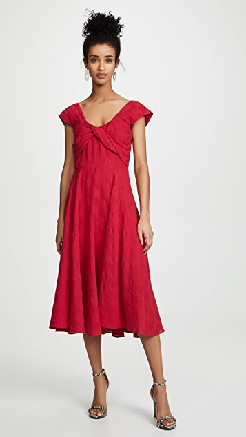 La Maison Talulah Ruby Red Midi Dress
