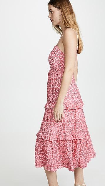 La Maison Talulah The Blossom Flounce Midi Dress