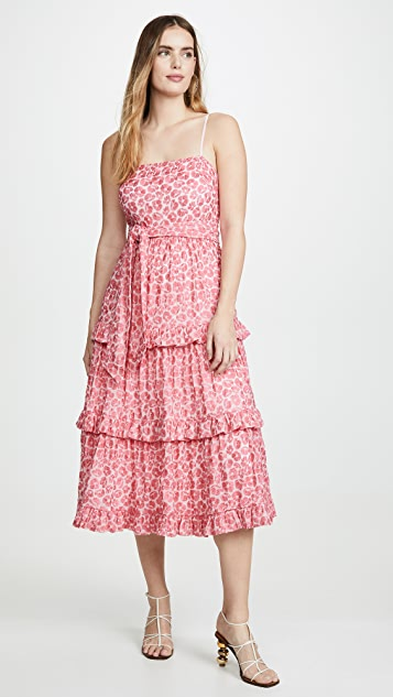 La Maison Talulah Миди-платье Blossom с оборками