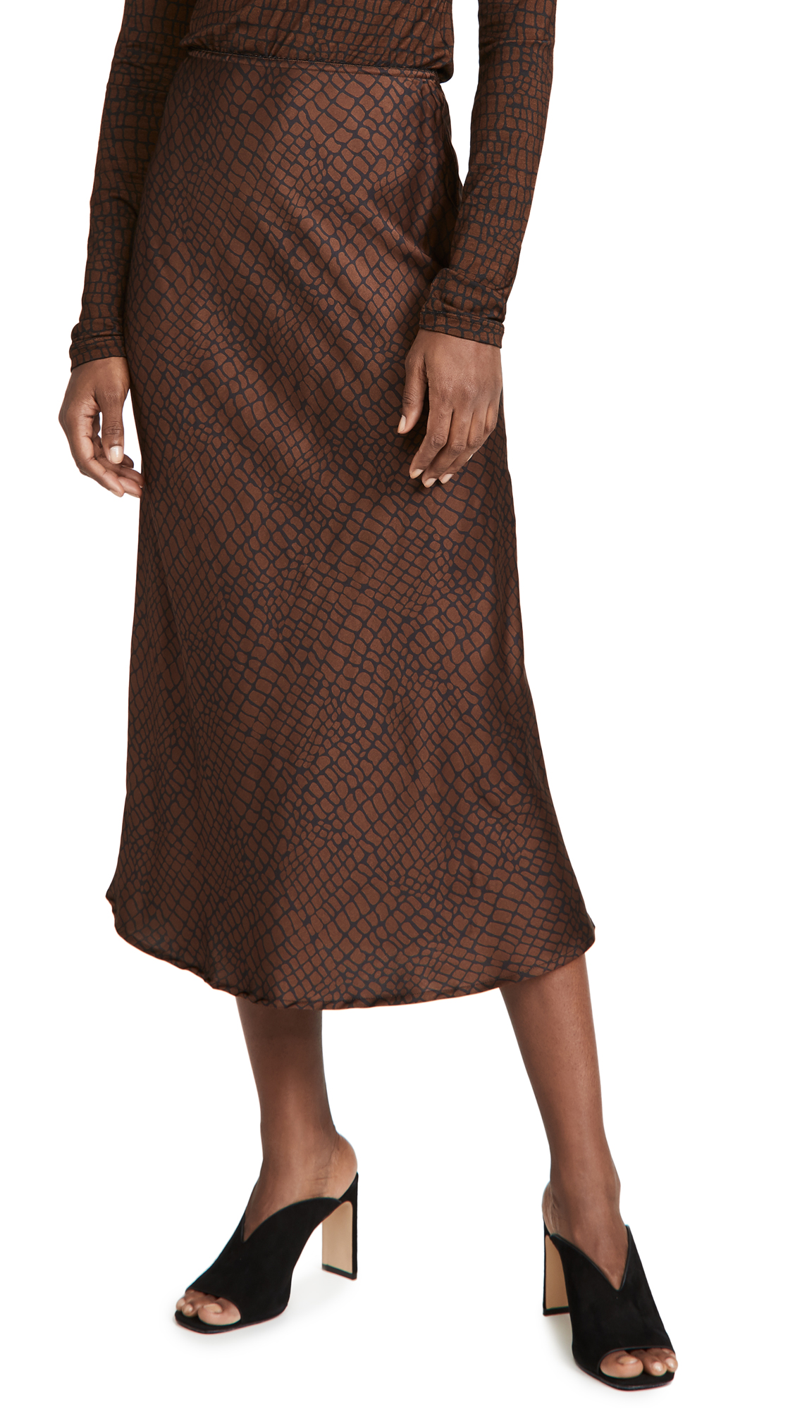 The Andamane Bella Straight Midi Skirt