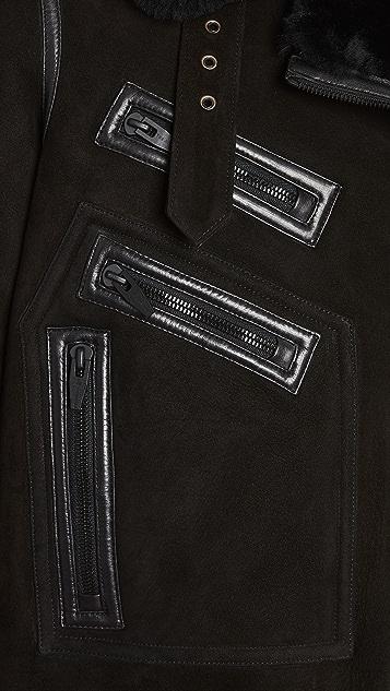 The Arrivals Moya IV Leather Shearling Jacket