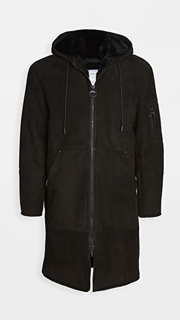 The Arrivals Hal Man Shearling Hooded Coat