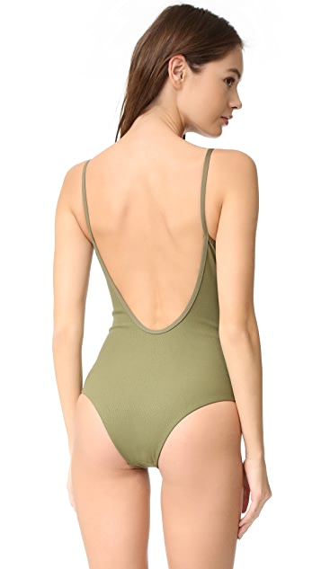 Tavik Swimwear Lila Ribbed One Piece