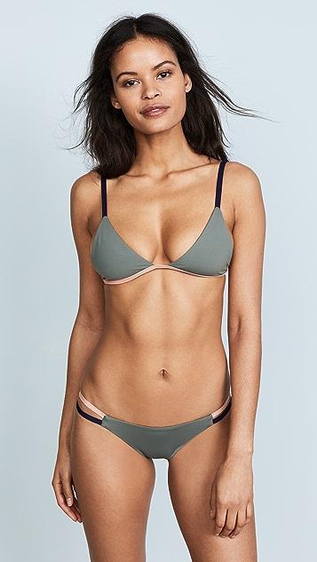 Tavik Swimwear Zepplin Triangle Bikini Top - Cove Grey