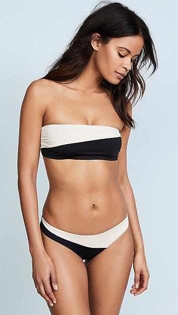 Tavik Swimwear Moon Coloblock Bandeau Bikini Top