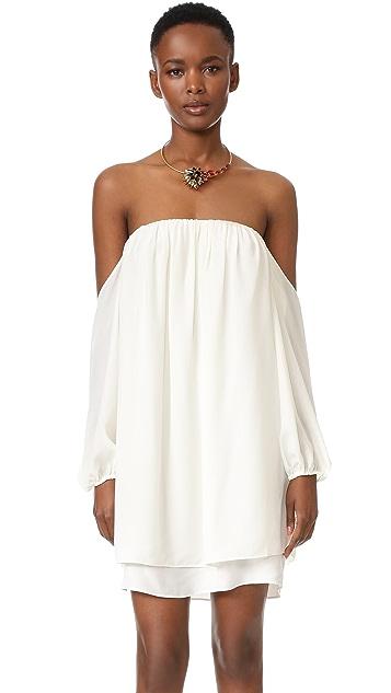 MISA Платье с открытыми плечами