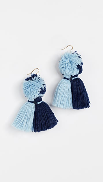 MISA Double Tassel Earrings