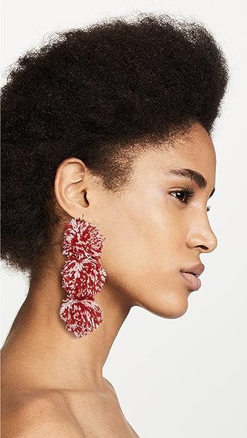 MISA Pom Pom Drop Earrings